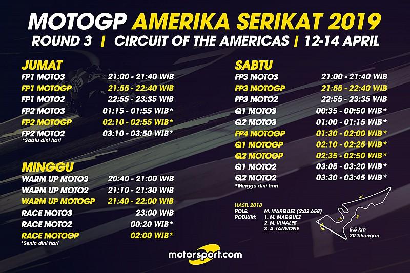 Jadwal lengkap MotoGP Amerika Serikat 2019