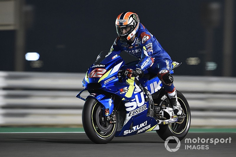 Rins tops Day 2 of Qatar test, Rossi 19th