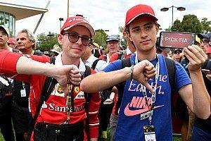 Galería: así mostraron su indignación los aficionados a la F1