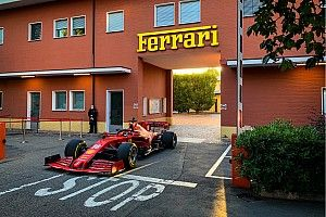 Leclerc runs 2020 F1 Ferrari on Maranello streets