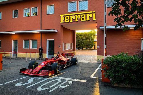 Leclerc, Maranello'da Ferrari SF1000'in direksiyonuna geçti