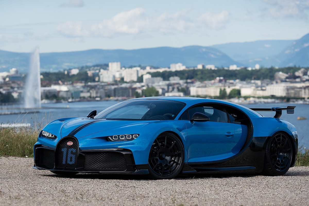 La Bugatti Chiron Pur Sport est passée par Genève