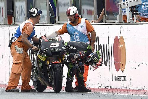 Зарко объяснил, зачем толкал мотоцикл к финишу