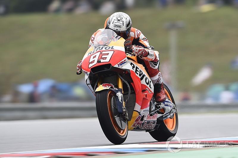 Márquez arrancó el sábado adelante en Brno