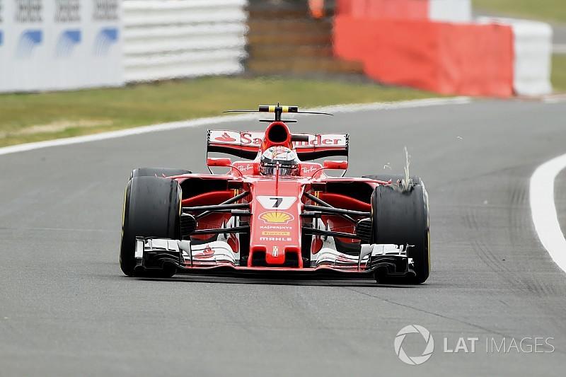 External damage caused Raikkonen British GP tyre problem