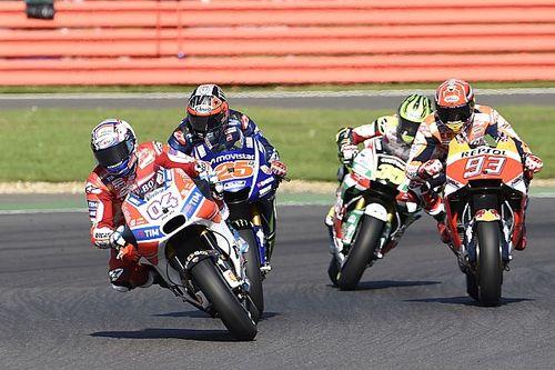 GALERI: Aksi pembalap pada MotoGP Inggris