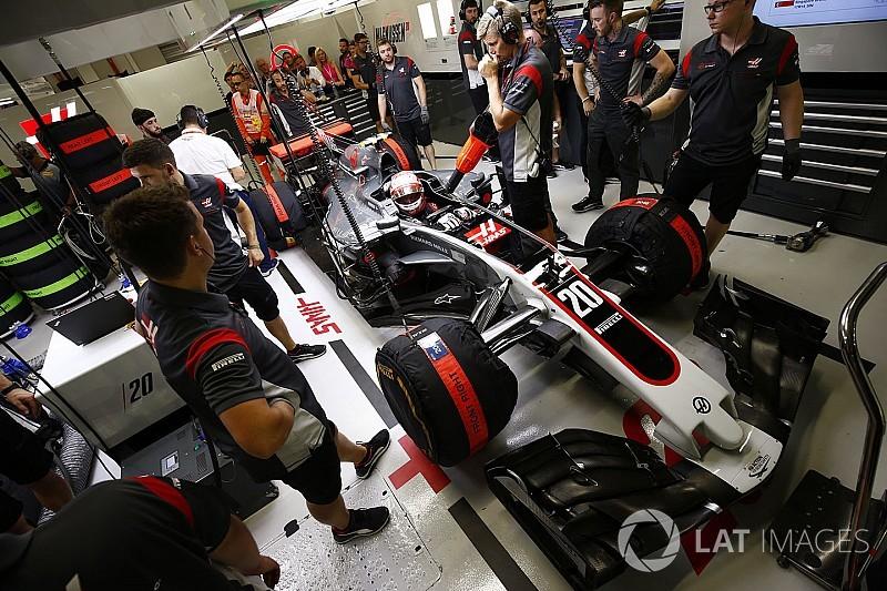 La Haas prova dei nuovi dischi freno Carbon Industrie in Malesia