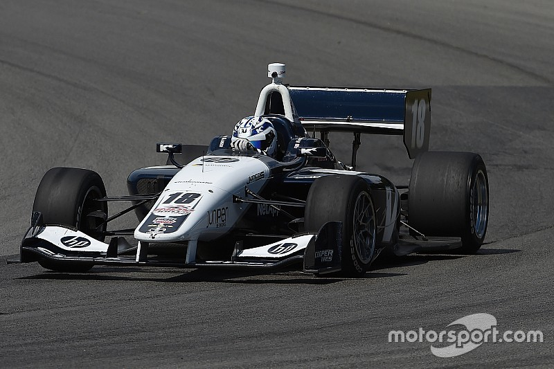 Kaiser leads Urrutia in Indy Lights practice