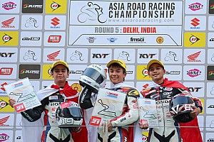 Dua pembalap muda AHM cetak sejarah di India