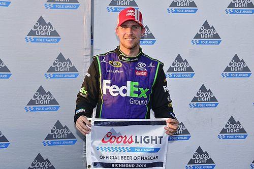 Denny Hamlin edges Kyle Larson for Richmond pole