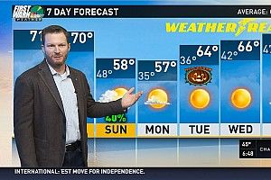 Dale Earnhardt Jr. becomes a weatherman for a day