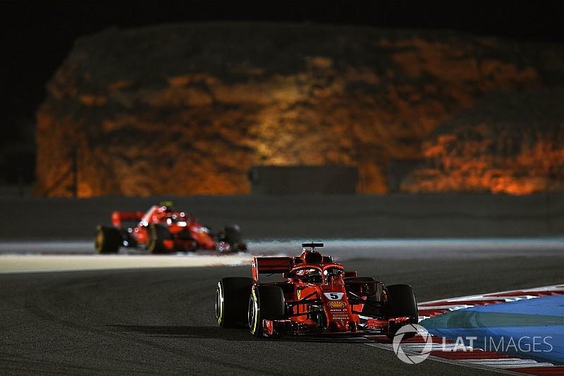 Startaufstellung: Grand Prix von Bahrain der Formel 1 2018