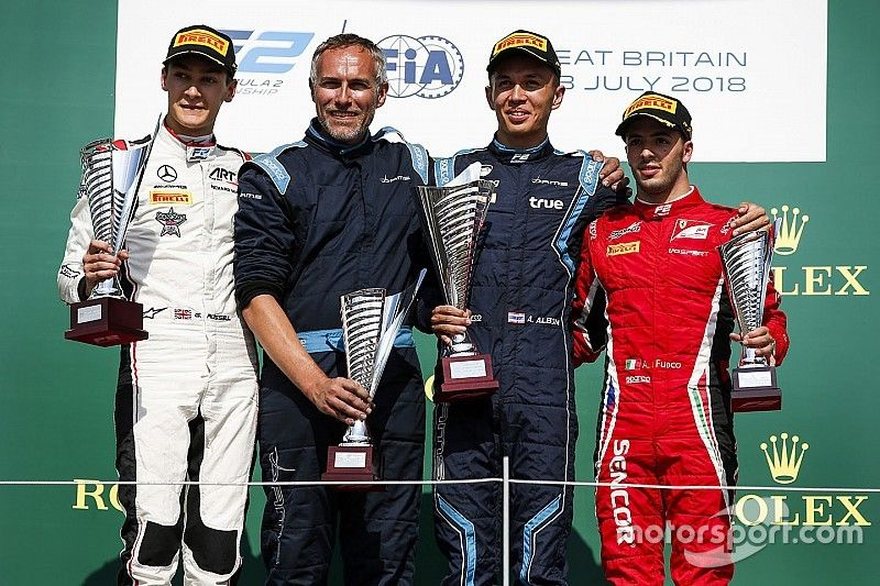 Silverstone F2: Albon wins after Russell pit drama