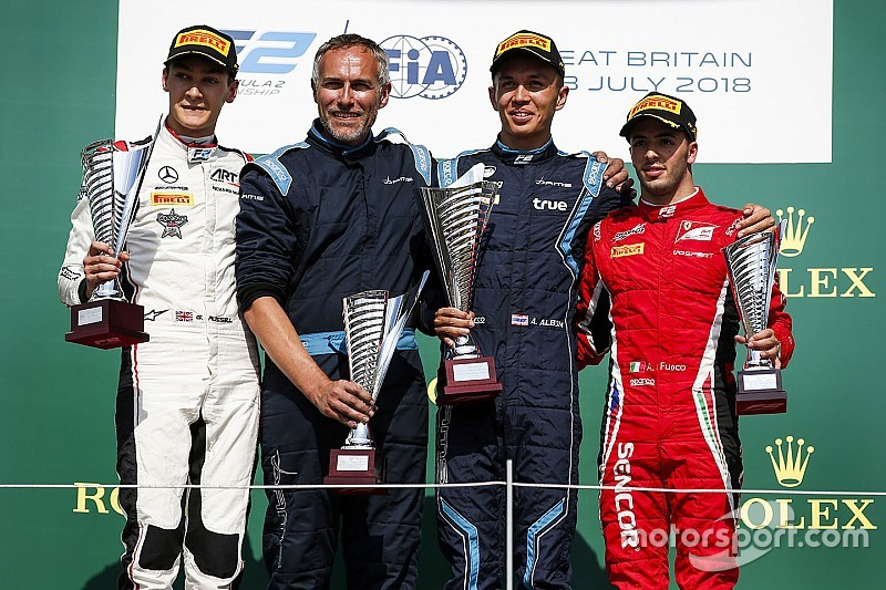 F2 Silverstone: Albon tak terkejar di feature race, Gelael gagal finis