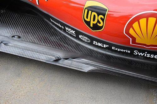 """Ferrari: ci sono due """"binari"""" nel fondo tagliati da uno slot obliquo"""