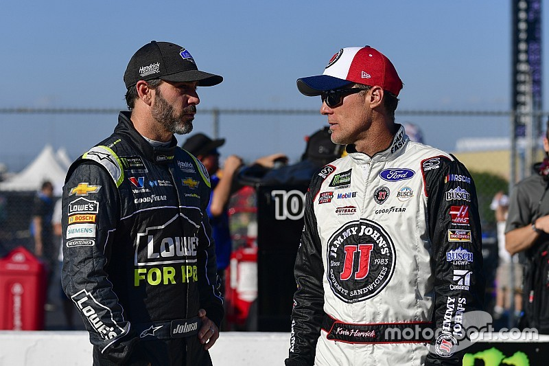 "Harvick calls Johnson ""one of the most disrespected great drivers"""