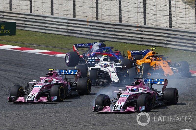 Force India dice a Pérez y a Ocon que choquen con otros pilotos antes que entre sí