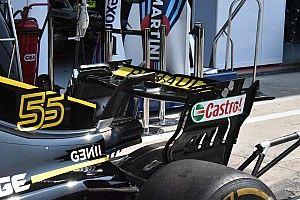 Renault: l'ala posteriore è quasi piatta, mentre davanti si lavora sull'efficienza