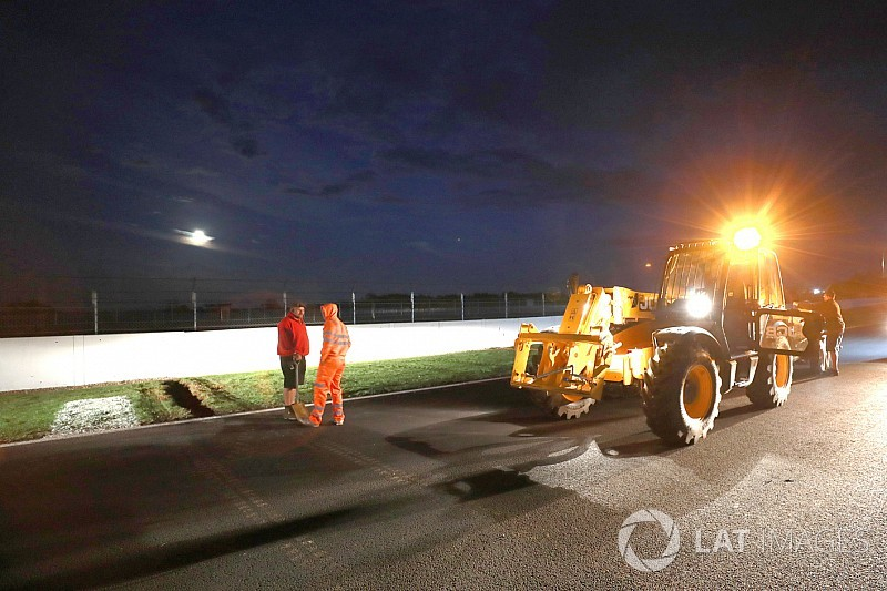Silverstone set for overnight track works to improve drainage