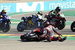 """Marquez sulla caduta di Lorenzo: """"Sullo sporco bisogna avere il sangue freddo e non aprire tutto il gas"""""""