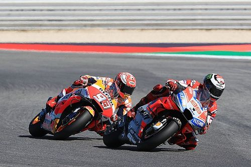 "Marquez was ""pushing too much"" to follow Lorenzo"