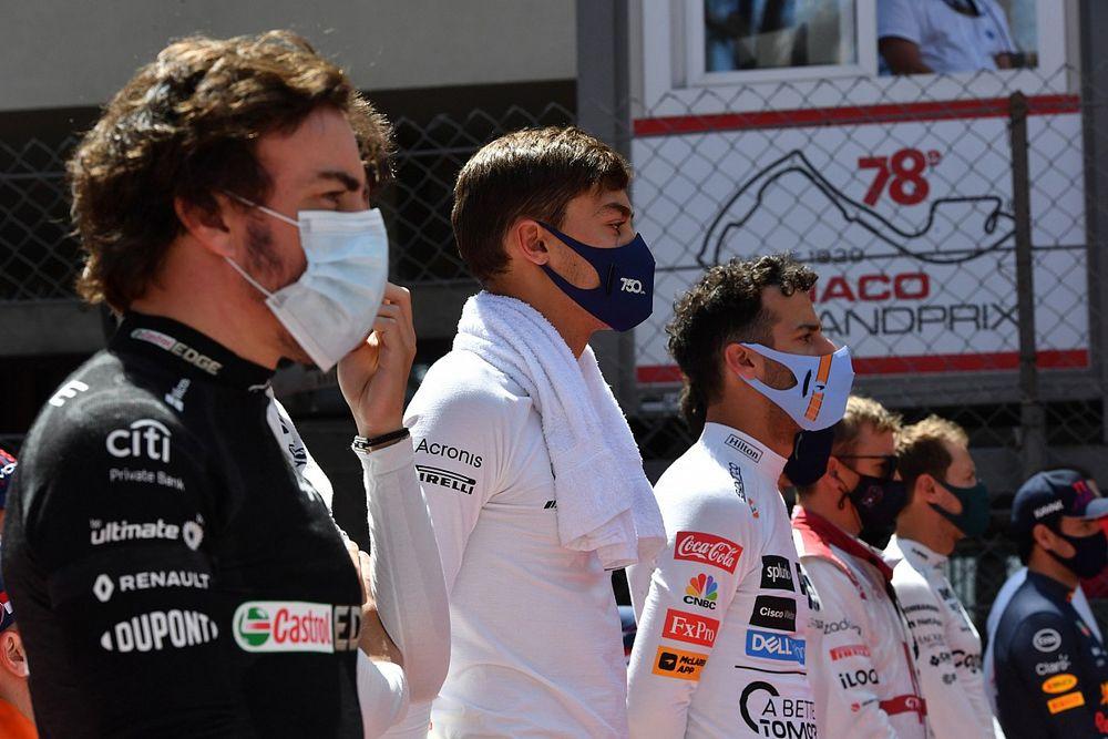 Le manque de rythme d'Alonso et Ricciardo a handicapé Russell