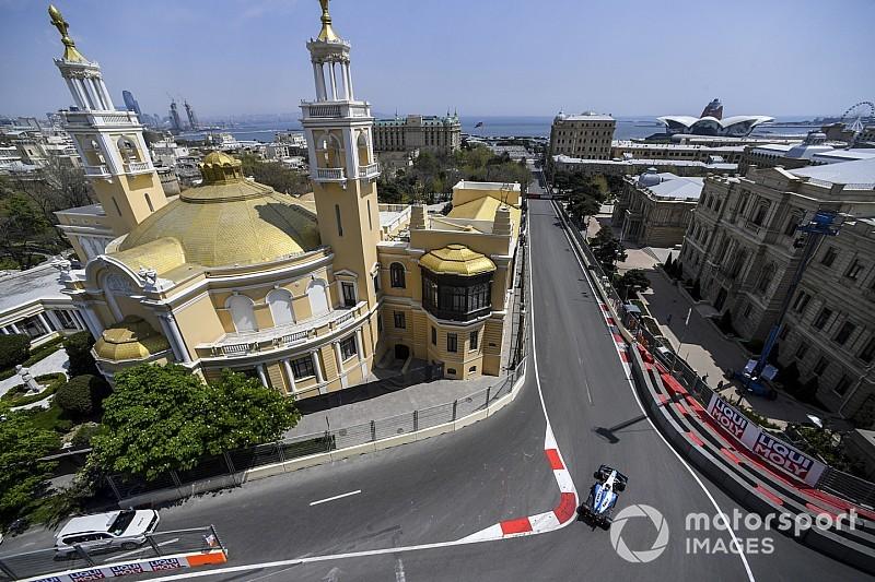 Azerbaycan GP 1. antrenman: Drenaj kapağı yerinden çıktı, seans iptal edildi