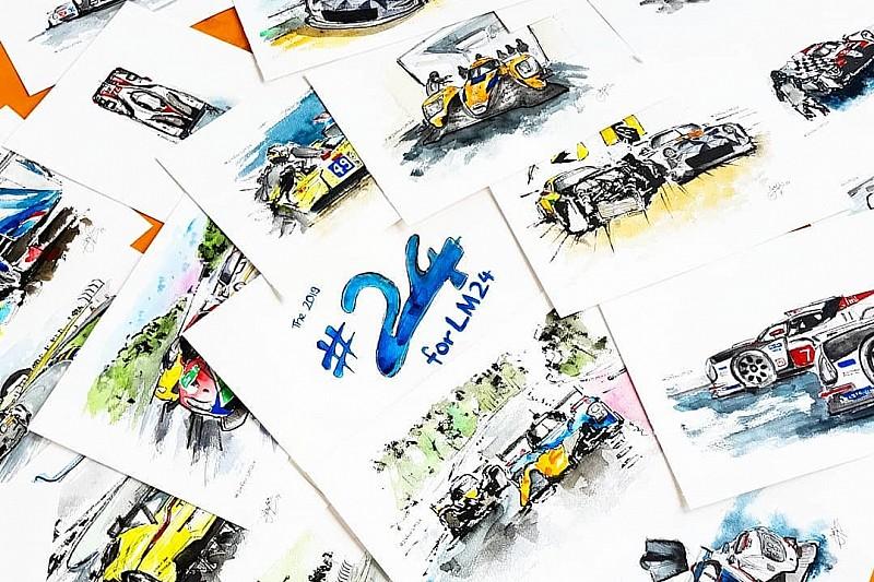 Художник устроил себе марафон «24 гоночные картины за сутки». Что у него получилось