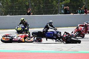 Galería: así fue la caída de Lorenzo que sembró el caos en Montmeló