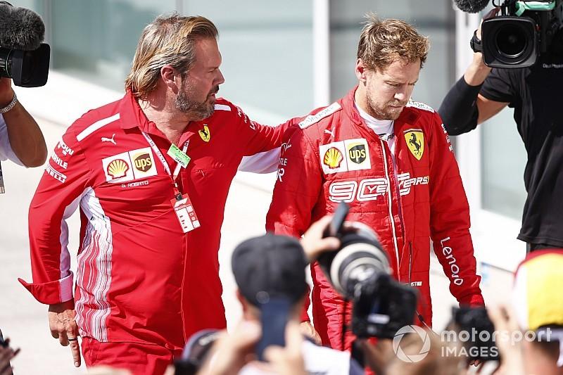 Percakapan lengkap radio tim Vettel saat dipenalti