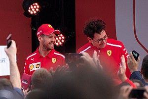 """Vettel brinca com ausência de Binotto na Turquia: """"Vamos fazer com que ele fique mais em casa"""""""