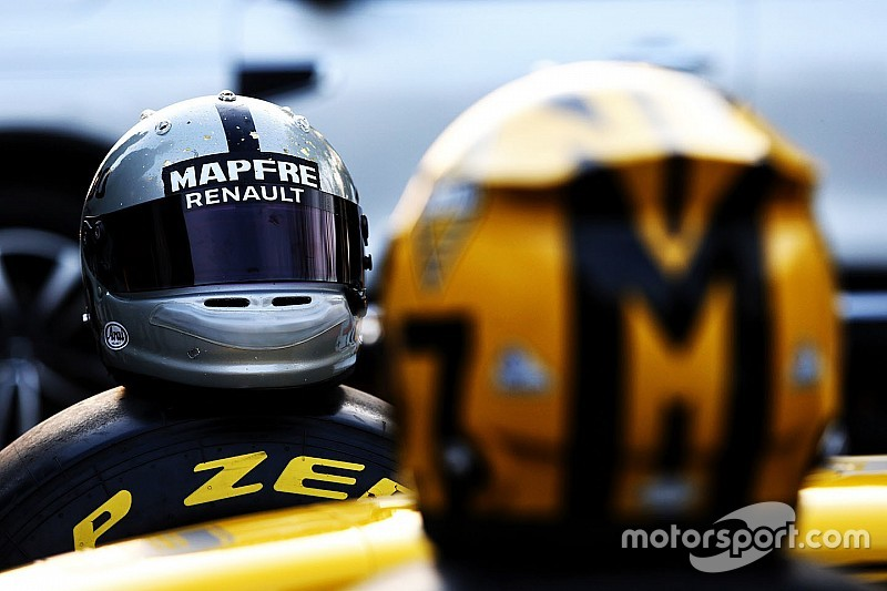 GALERIA: Veja os capacetes especiais da dupla da Renault para GP 1000 da F1