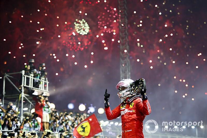 Vettel savoure et ignore la polémique de la stratégie Ferrari