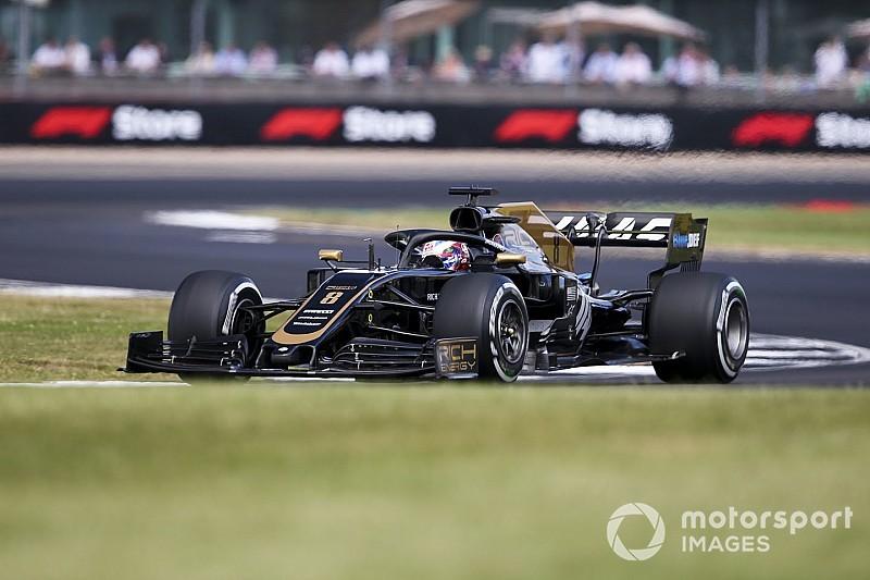 Fotostrecke: Der Schweizer Romain Grosjean beim Grossen Preis von Großbritanien