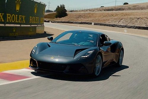 Watch: Jenson Button drive new Lotus Emira around Laguna Seca
