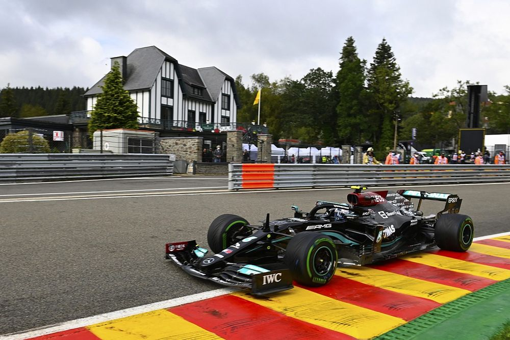 F1ベルギーFP1:ボッタスが後半戦最初のセッションで好発進、アルファタウリ角田は15番手