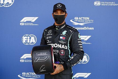 91 pole position Hamiltona