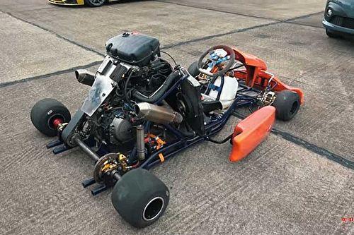 Listen To A Honda CBR1000RR Fireblade-Powered Go Kart At Work