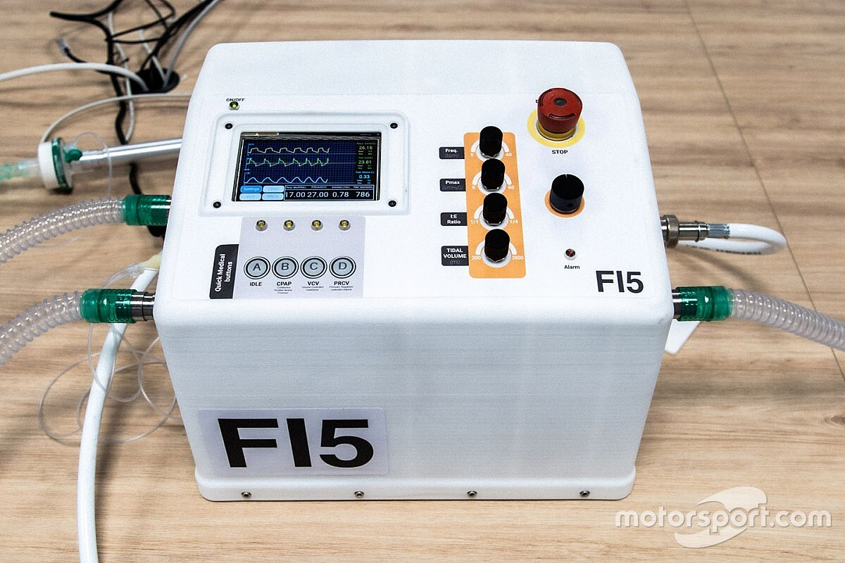 Ferrari présente son respirateur artificiel contre le COVID-19