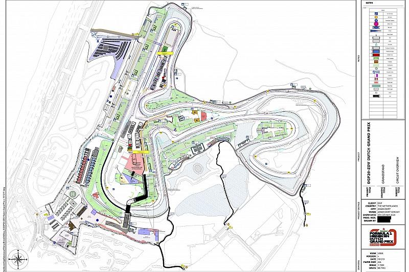 In beeld: Zo wordt Circuit Zandvoort ingedeeld voor F1