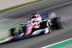 Perez zeer te spreken over zijn 'roze Mercedes'