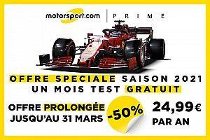 Testez gratuitement Motorsport.com sans pub et avec plus de contenu!