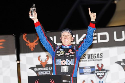 John Hunter Nemechek tops boss Kyle Busch for Vegas Truck win