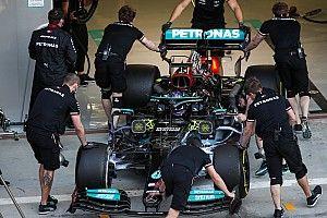 Mercedes rodó con los dos coches en día de filmación en Bahréin