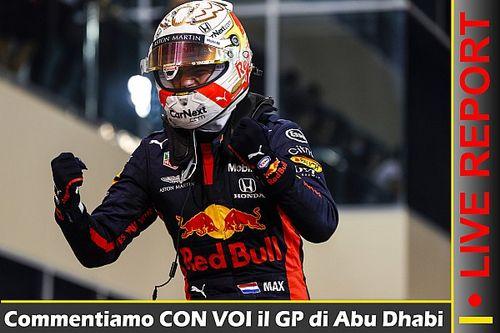 REPORT LIVE F1: il GP di Abu Dhabi