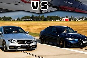 Mercedes-AMG C63S Coupe ile Alfa Romeo Giulia QV karşı karşıya!