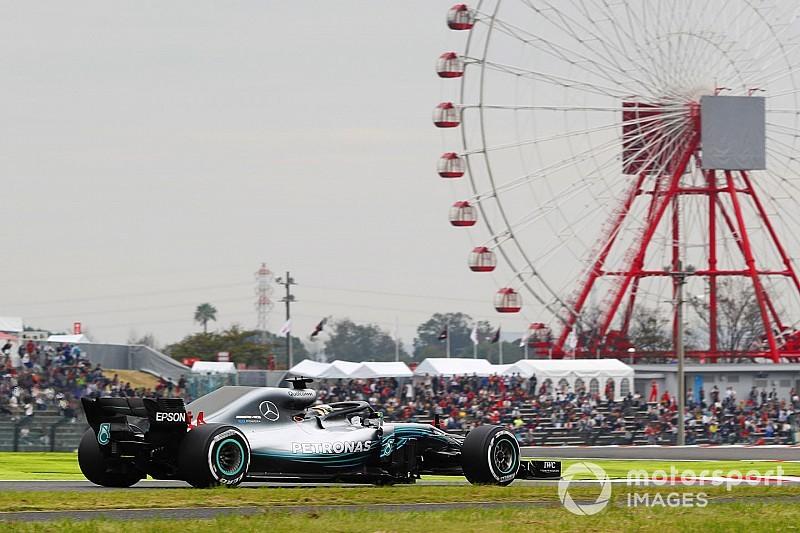 日本大奖赛FP2:汉密尔顿一枝独秀,梅赛德斯优势明显