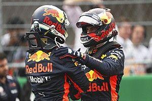 Ricciardo boldog, Verstappennek vacak időmérője volt