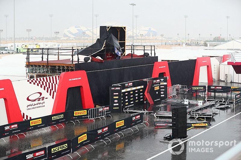 Sandsturm und Gewitter in Katar: Start der WSBK- und WSSP-Rennen verschoben