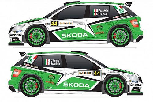 Ecco la livrea della Skoda Fabia di Scandola per il Rally Italia Sardegna